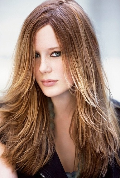 Long layered hairstyle for women