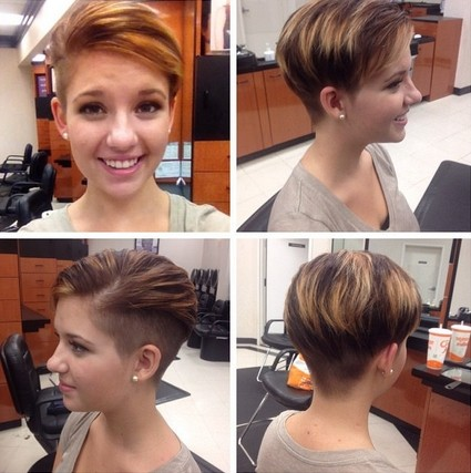 Trendy hair color for short hair