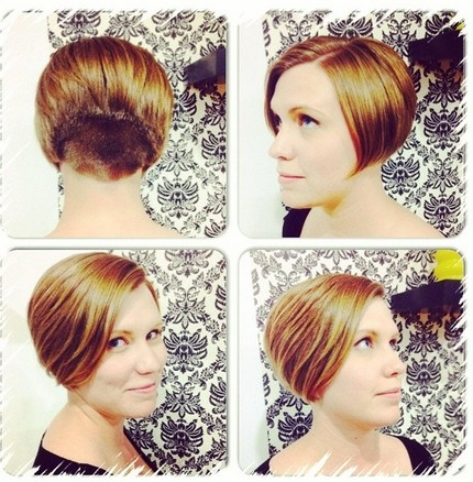 Short blonde haircut for thin hair