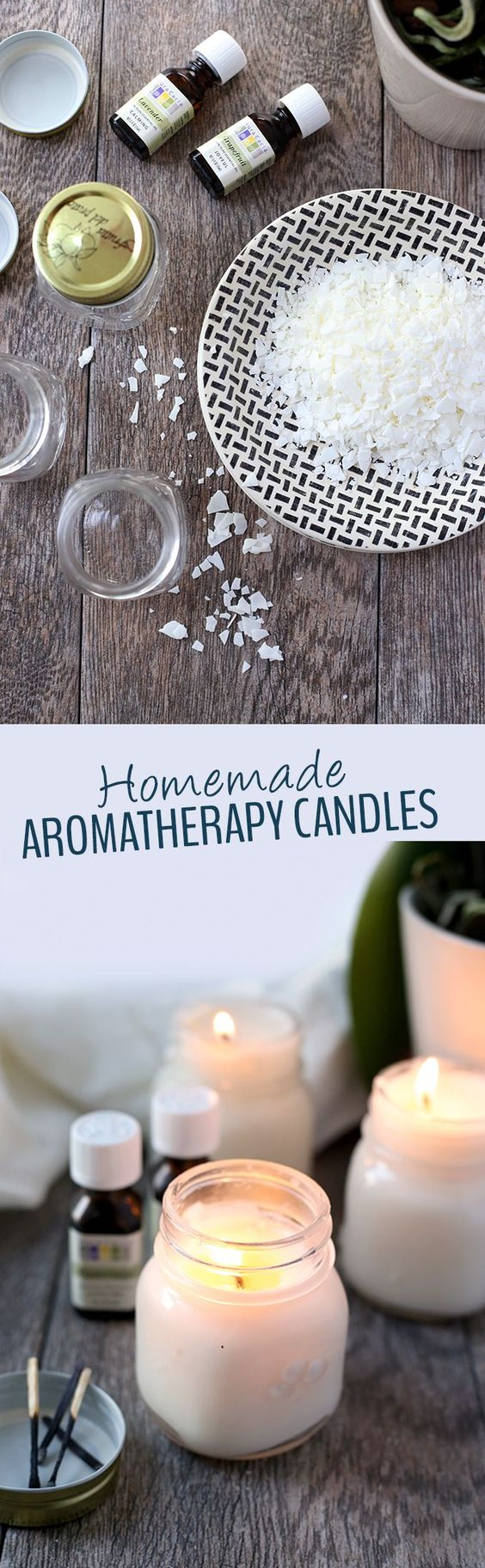 homemade candles over