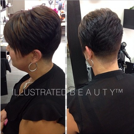 Short layered hairstyle for black women