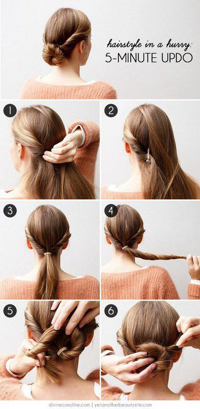 5 minute updo for girls
