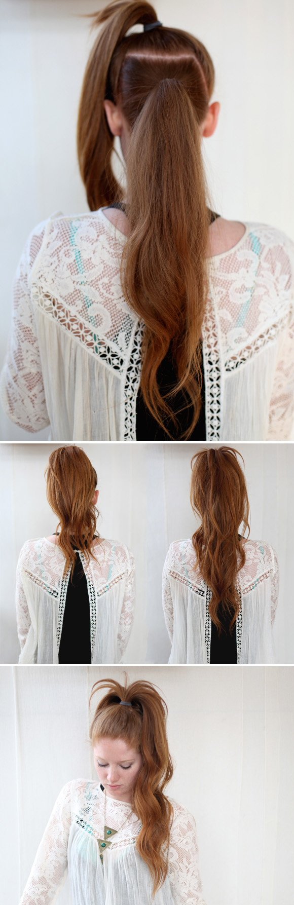 The illusory crazy long mane ponytail