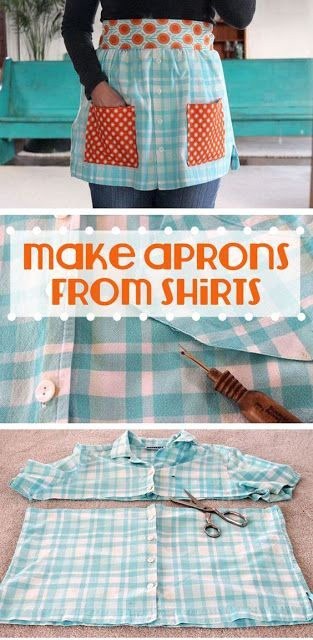 Make apron-from-shirts about