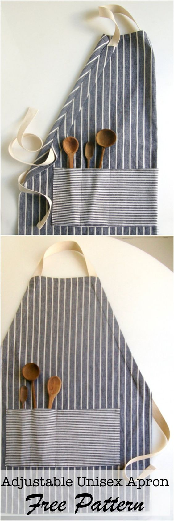 DIY adjustable apron over