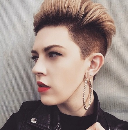 Edgy-Chic Short Spikey Hairstyle