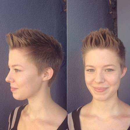 Casual Spikey Hairstyle for Very Short Hair