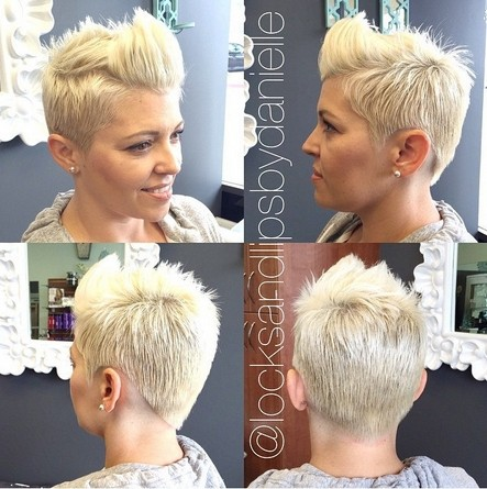Short Spikey Hairstyle for Thick Hair