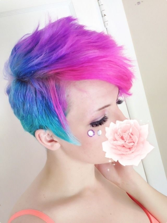 Spikey Ombre Short Hairstyle