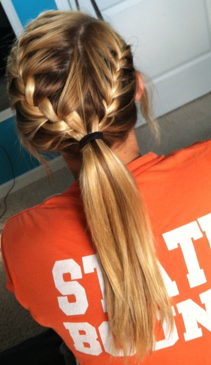 French Braid Ponytail Hairstyle for Long Hair