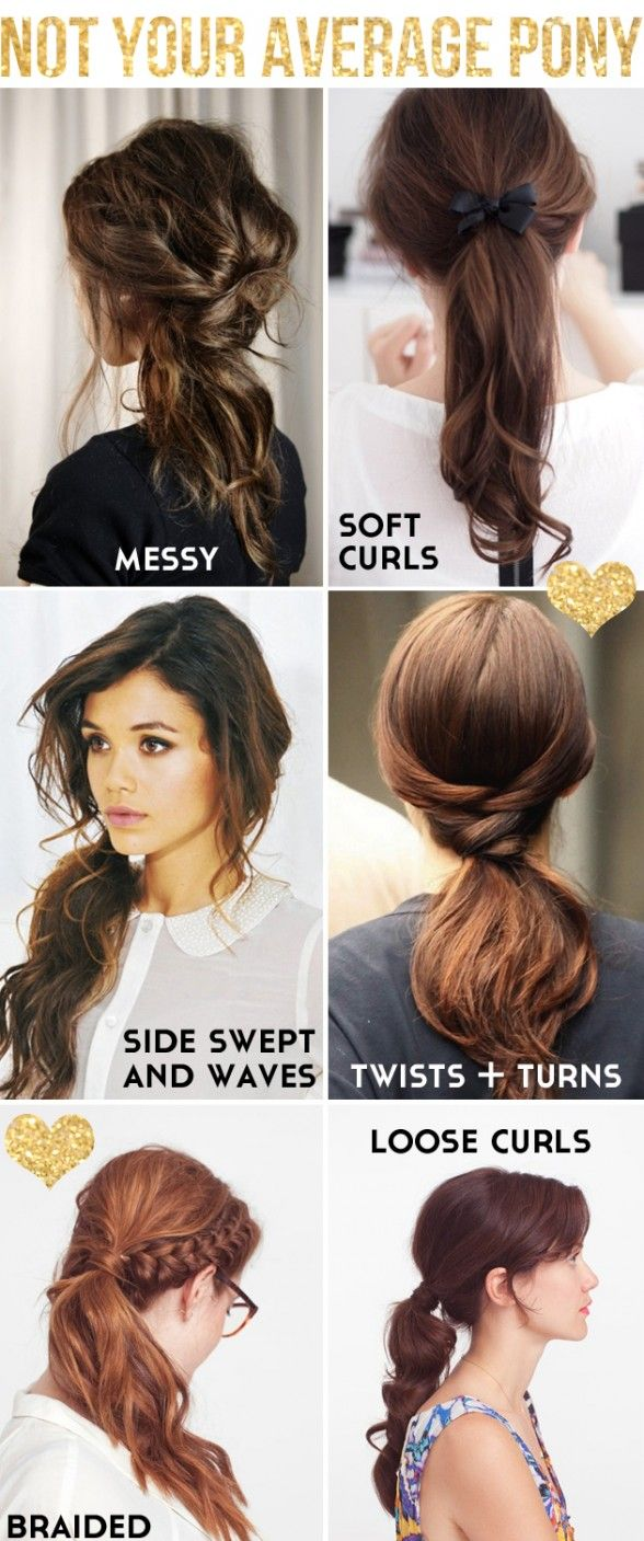 Cool ponytail hairstyles for school
