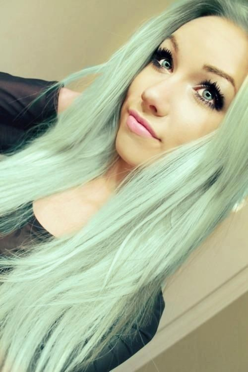 Pastel colored hair colors for long straight hair