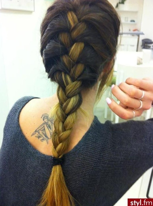 French braid for ombre hair