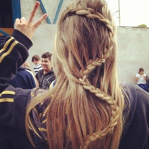 Snake braid hairstyle idea