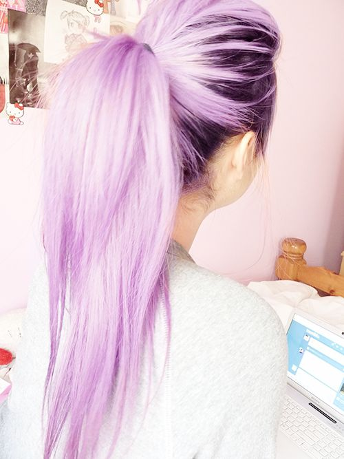 Purple ombre hair color idea