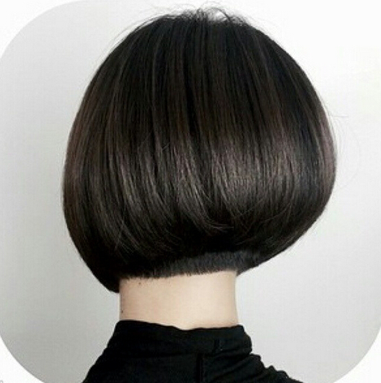 Pretty short bob haircut rear view
