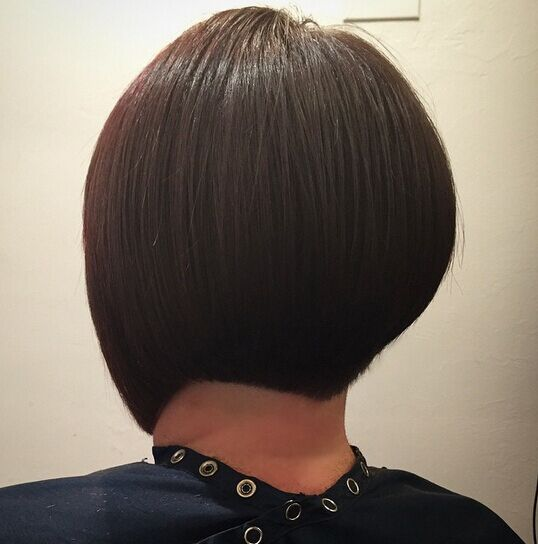 Short bob haircut rear view