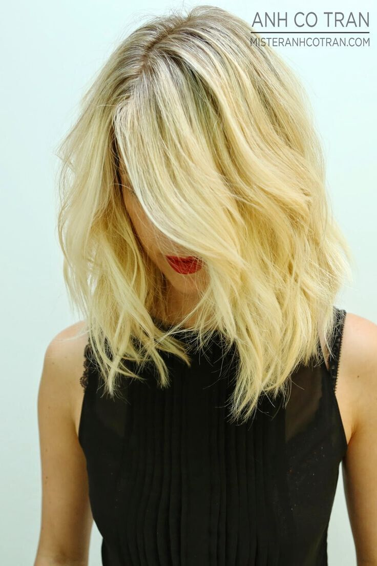 Long wavy bob haircut