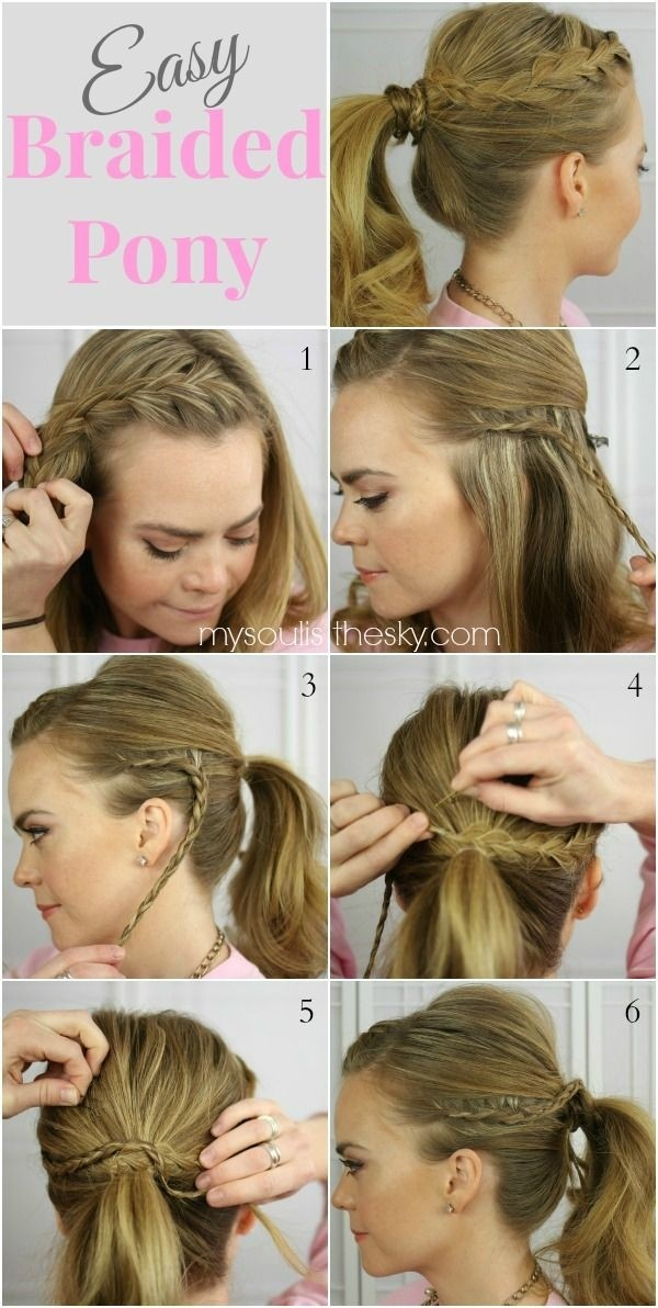 Simple braided ponytail hairstyle for long hair
