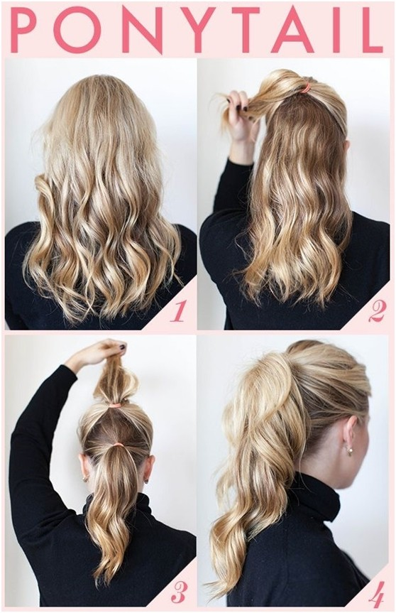Simple ponytail hairstyle for work