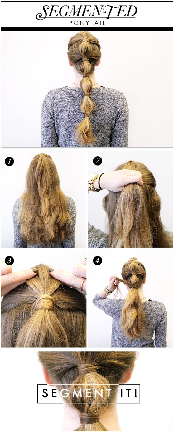 Ponytail segment for holiday hairstyles