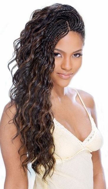 Nice braided hairstyle for African American women