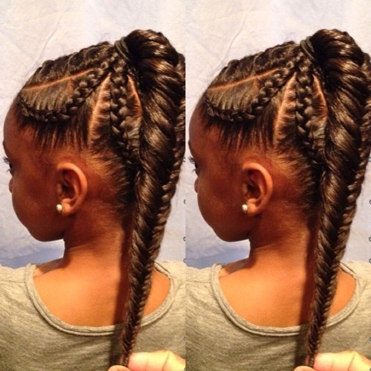 Fishtail braid hairstyle for kids