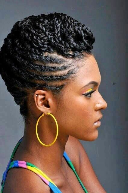 Natural braid hairstyle for African American women