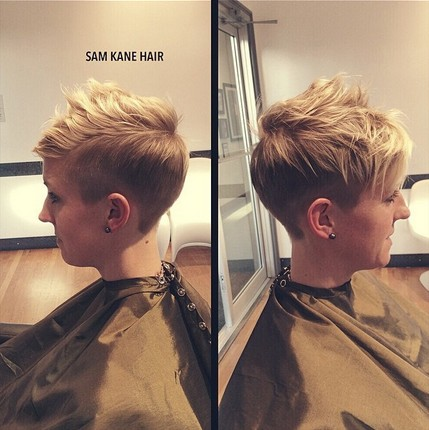 Edgy Short Hairstyle for fine straight hair