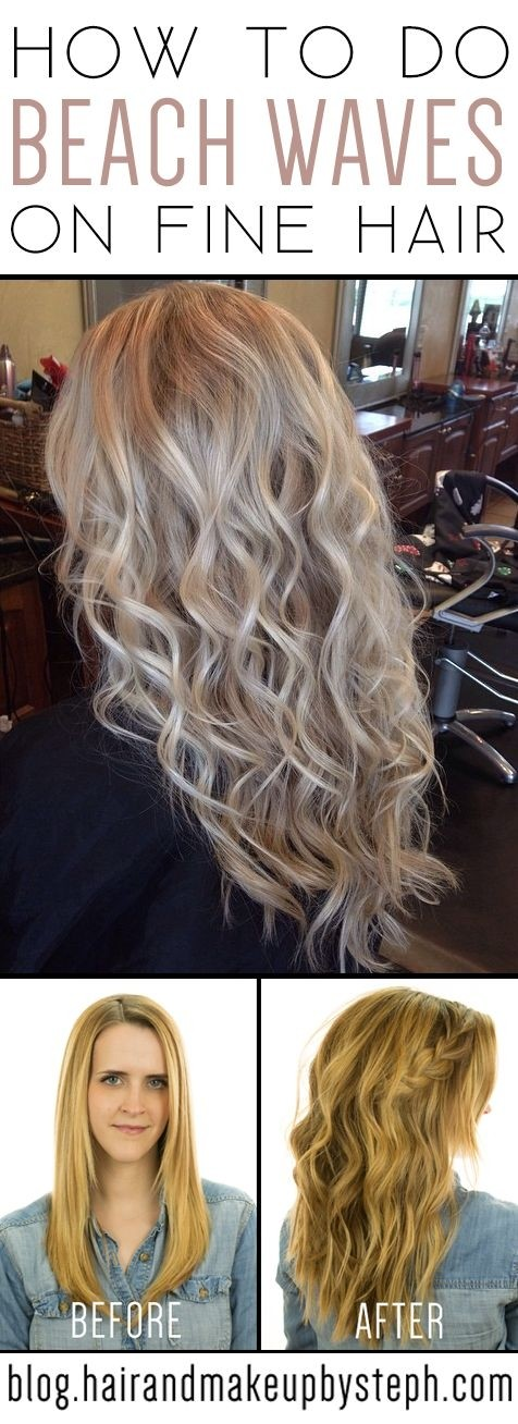 Beach wavy hairstyle for fine hair