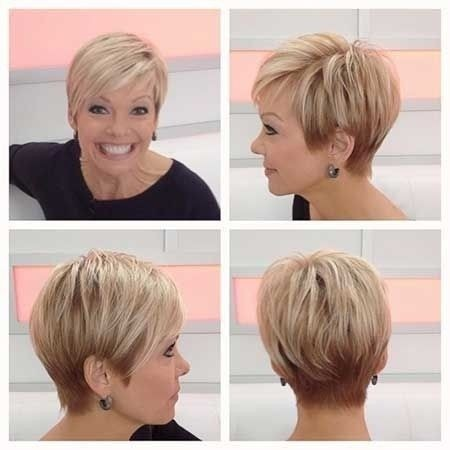 Simple short hairstyle for women