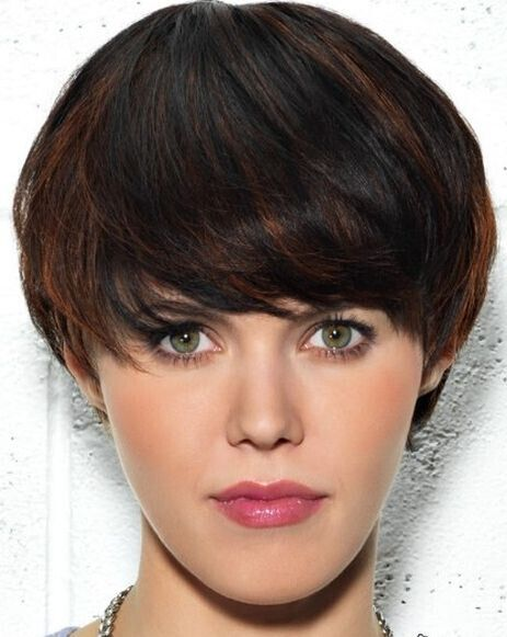 Brown highlights for short black hair
