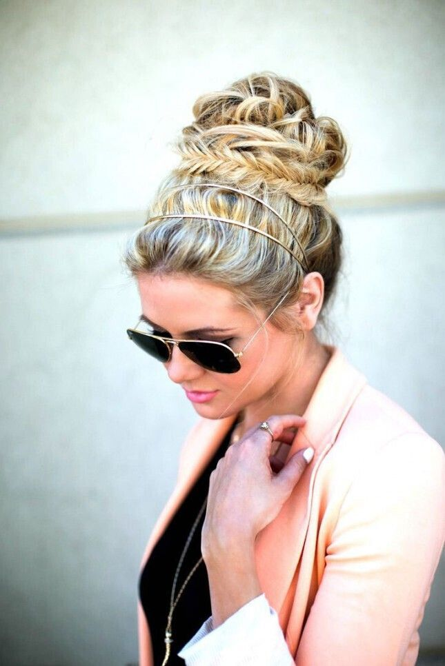 High bun for updos