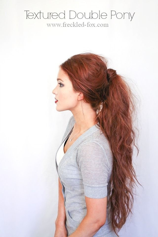 Textured double ponytail