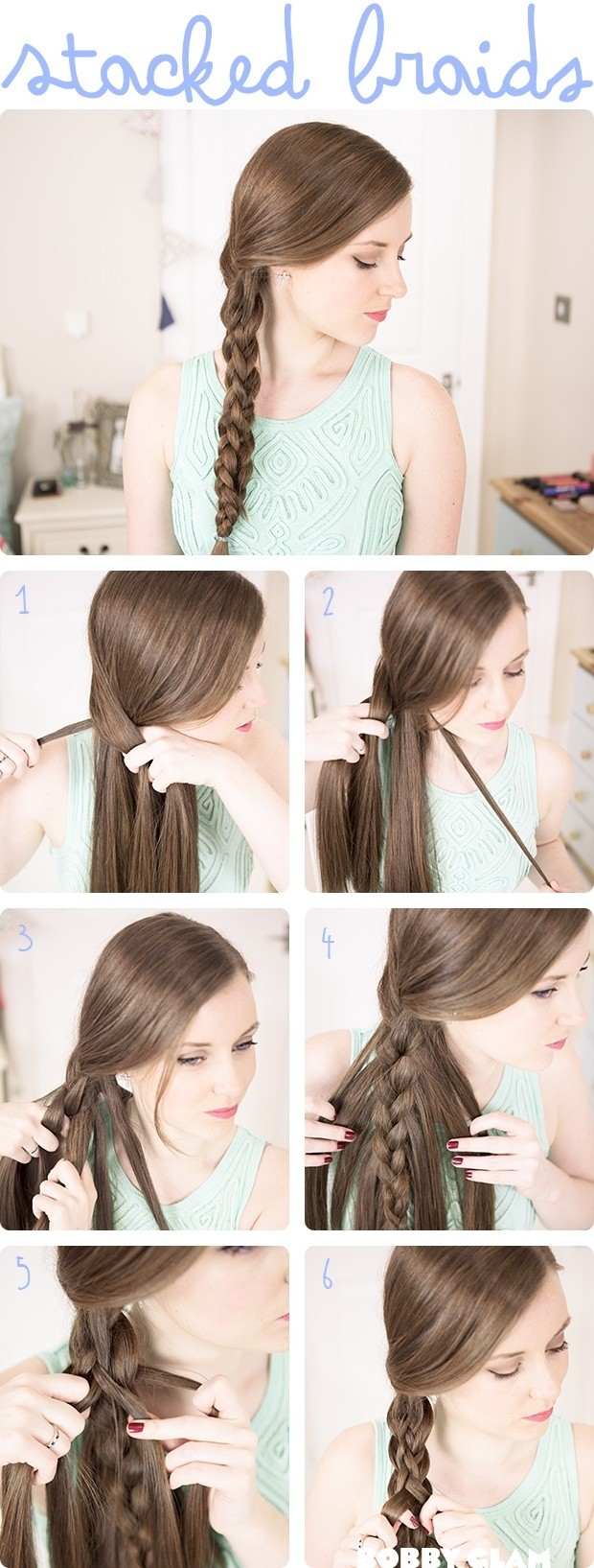 Stacked Braided Hairstyle Tutorial