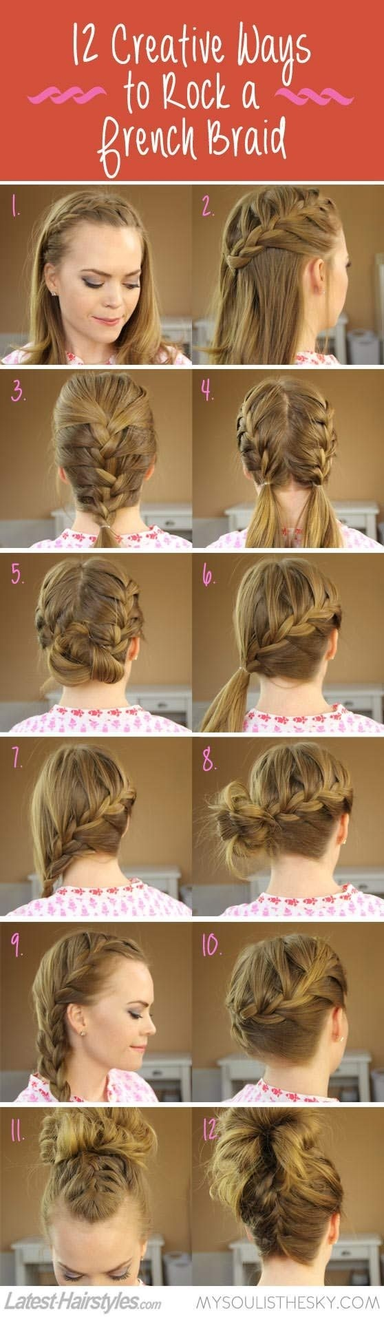 Creative French ideas for braided hairstyles