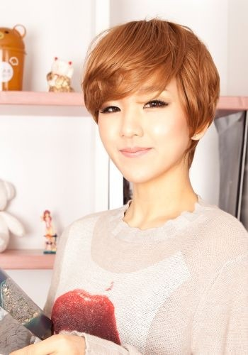Nice short haircut with side swept bangs
