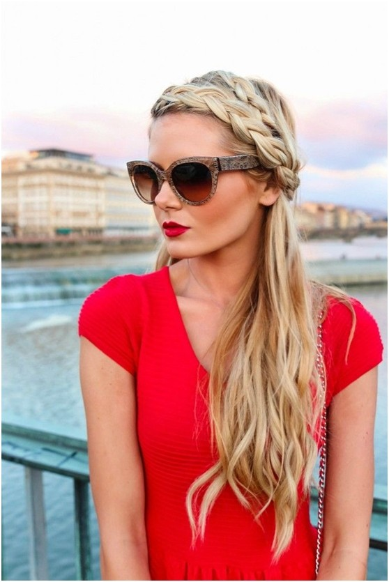 Braided headband for vacation hairstyles