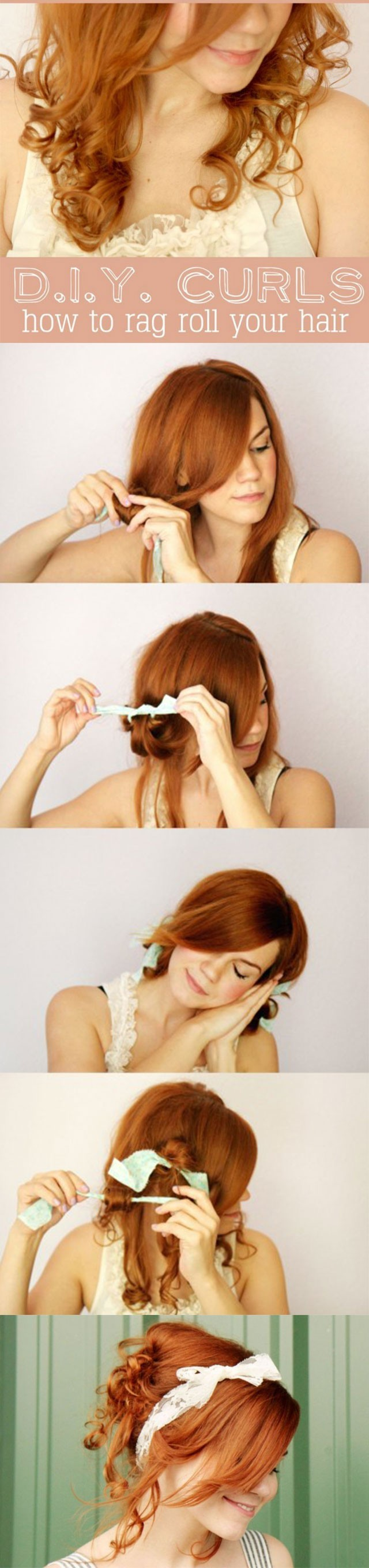 DIY curls: how to rag your hair