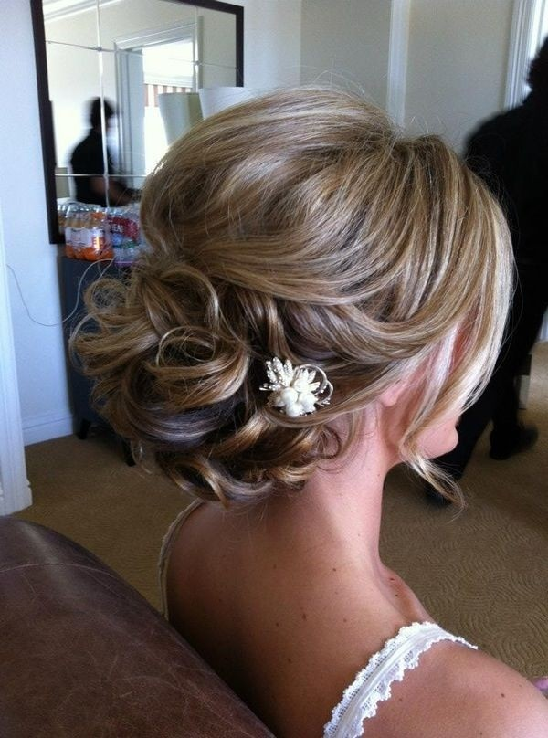 Twisted bridesmaid hairstyle