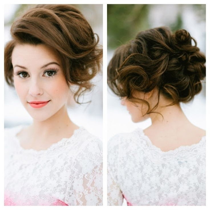 Chaotic updo for bridesmaid hairstyles