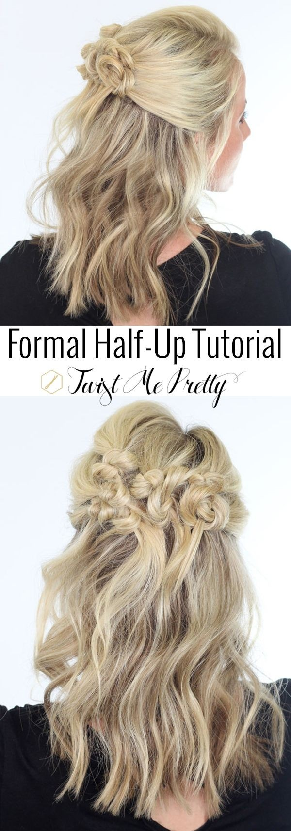 Pretty half hairstyle for medium hair
