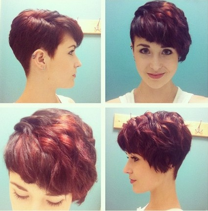 Short wavy haircut for red hair