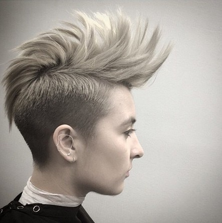 Short spiked hairstyle