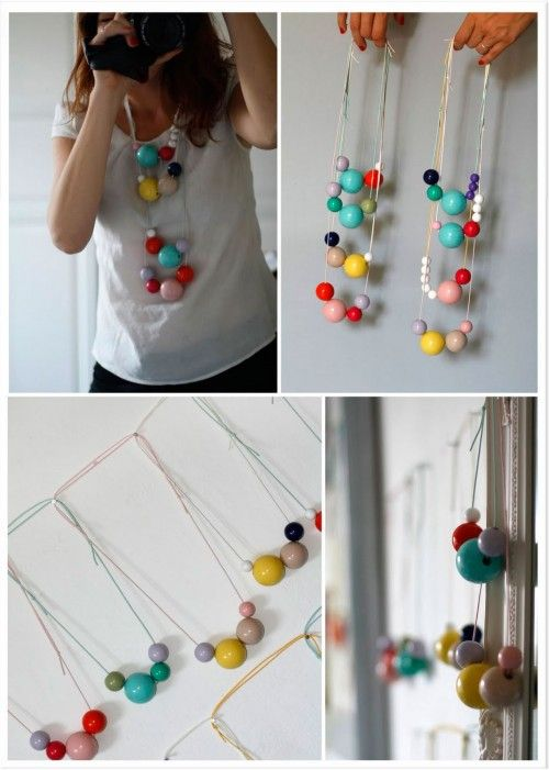 Colorful ball necklace