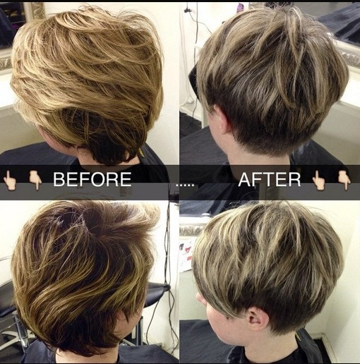 Simple layered pixie haircut for women