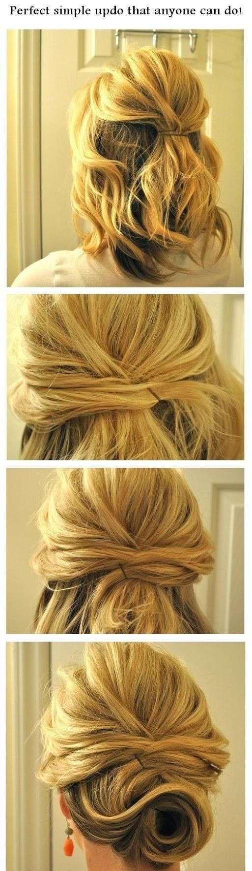 Perfect tutorial for simple updos