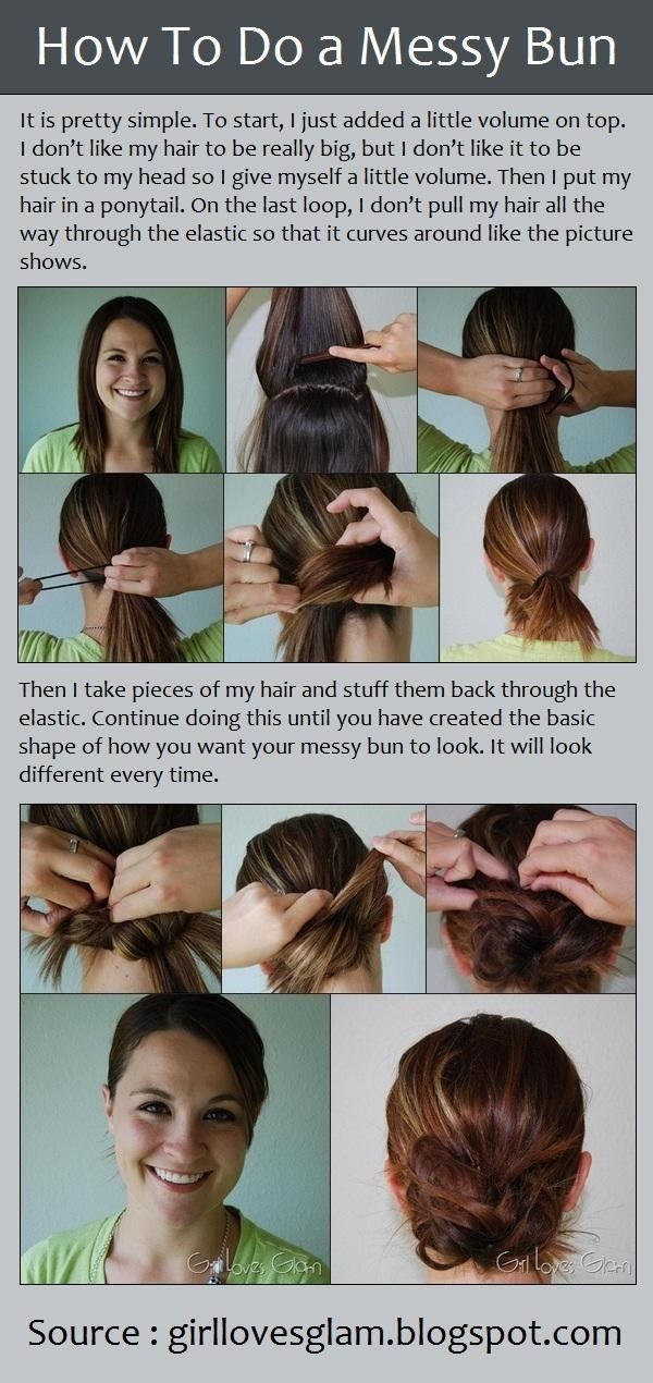 How to make a messy bun hairstyle