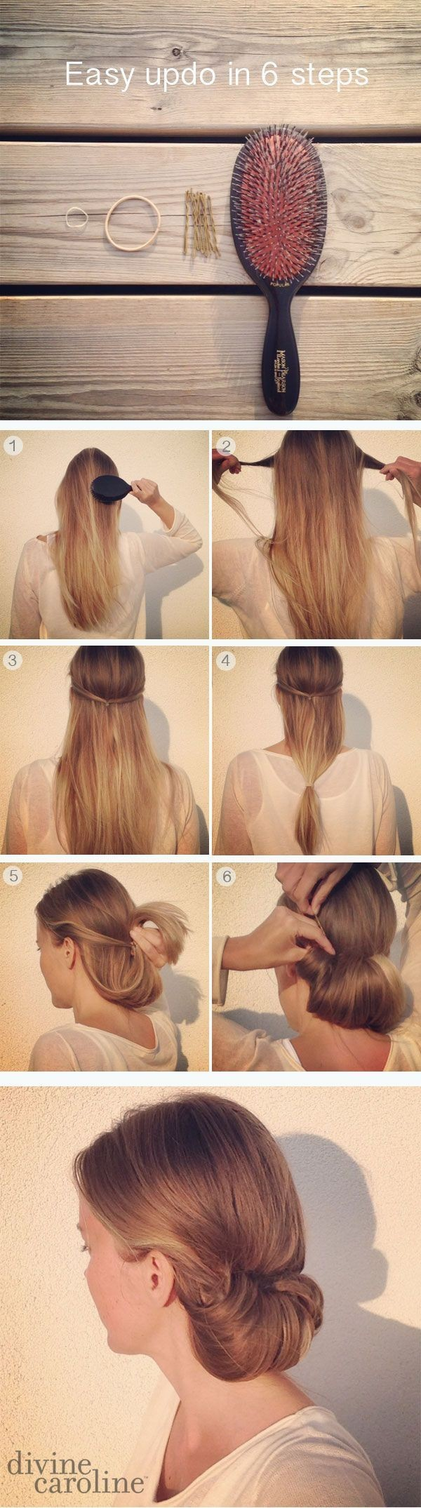 Simple updo for long hair