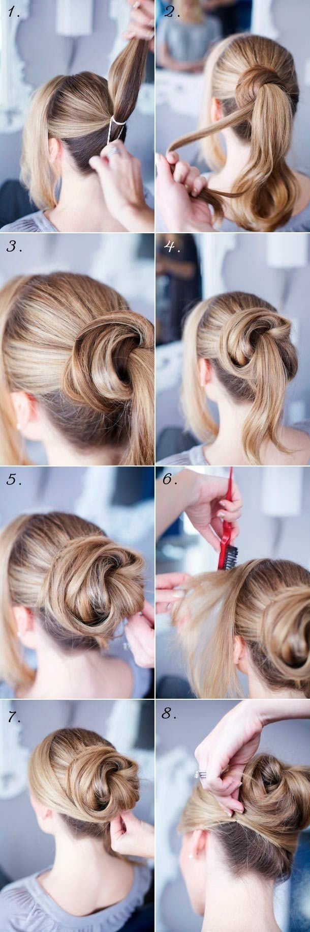 Nice updo tutorial for long hair